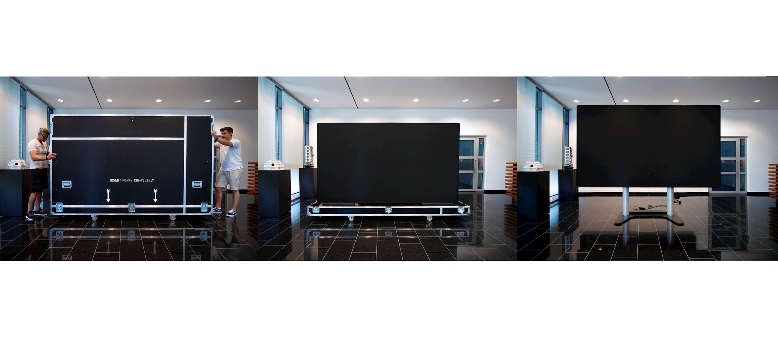 Großflächige LED Anzeige innerhalb weniger Minuten